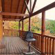 Back Porch View of Cabin 816 (Almost Paradise) at Eagles Ridge Resort at Pigeon Forge, Tennessee.