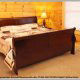 Bedroom with King Size Bed in Cabin 816 (Almost Paradise) at Eagles Ridge Resort at Pigeon Forge, Tennessee.