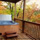 Hot Tub on Deck in Cabin 816 (Almost Paradise) at Eagles Ridge Resort at Pigeon Forge, Tennessee.