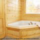 Private Jacuzzi View of Cabin 816 (Almost Paradise) at Eagles Ridge Resort at Pigeon Forge, Tennessee.