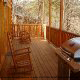 Back Porch View of Cabin 817 (Tranquility) at Eagles Ridge Resort at Pigeon Forge, Tennessee.