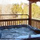 Hot Tub on Deck in Cabin 817 (Tranquility) at Eagles Ridge Resort at Pigeon Forge, Tennessee.
