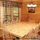Pine dining room in cabin 819 (mountain majesty) at Eagles Ridge Resort at Pigeon Forge, Tennessee.