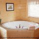 Private jacuzzi in cabin 819 (mountain majesty) at Eagles Ridge Resort at Pigeon Forge, Tennessee.