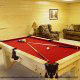 Game room with pool table in cabin 819 (mountain majesty) at Eagles Ridge Resort at Pigeon Forge, Tennessee.
