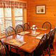 Country dining room in cabin 821 (Tranquil Times) at Eagles Ridge Resort at Pigeon Forge, Tennessee.