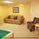 Game room with pool table in cabin 821 (Tranquil Times) at Eagles Ridge Resort at Pigeon Forge, Tennessee.