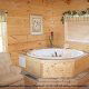 Private jacuzzi in cabin 821 (Tranquil Times) at Eagles Ridge Resort at Pigeon Forge, Tennessee.