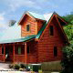Front View of Cabin 832 (Lakeside Hideaway) at Eagles Ridge Resort at Pigeon Forge, Tennessee.