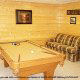 Game room with pool table in cabin 845 (Eagle Watch) , in Pigeon Forge, Tennessee.
