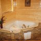 Private Jacuzzi View of Cabin 849 (Sweet Escape) at Eagles Ridge Resort at Pigeon Forge, Tennessee.