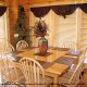 Dining Room View of Cabin 850 (Simply The Best) at Eagles Ridge Resort at Pigeon Forge, Tennessee.