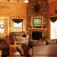 Living Room View of Cabin 850 (Simply The Best) at Eagles Ridge Resort at Pigeon Forge, Tennessee.