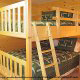 Country bedroom with bunk beds in cabin 853 (Beary Cozy) at Eagles Ridge Resort at Pigeon Forge, Tennessee.