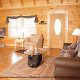 Great room with fireplace in cabin 853 (Beary Cozy) at Eagles Ridge Resort at Pigeon Forge, Tennessee.