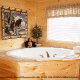Private jacuzzi in cabin 853 (Beary Cozy) at Eagles Ridge Resort at Pigeon Forge, Tennessee.