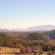 Mountain view from cabin 853 (Beary Cozy) at Eagles Ridge Resort at Pigeon Forge, Tennessee.