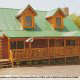 Outside view of cabin 853 (Beary Cozy) at Eagles Ridge Resort at Pigeon Forge, Tennessee.