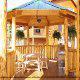 Beautiful gazebo in cabin 854 (The Wagon Wheel Lodge) at Eagles Ridge Resort at Pigeon Forge, Tennessee.