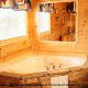Private jacuzzie in cabin 854 (The Wagon Wheel Lodge) at Eagles Ridge Resort at Pigeon Forge, Tennessee.