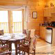 Country kitchen dinette in cabin 854 (The Wagon Wheel Lodge) at Eagles Ridge Resort at Pigeon Forge, Tennessee.