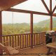 Back Deck with Swing in Cabin 855 (Hillside Retreat) at Eagles Ridge Resort at Pigeon Forge, Tennessee.