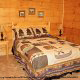 Country bedroom in cabin 856 (Eagles Pointe) , in Pigeon Forge, Tennessee.