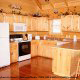 Large fully furnished kitchen in cabin 856 (Eagles Pointe) , in Pigeon Forge, Tennessee.