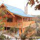 Outside view of cabin 856 (Eagles Pointe) , in Pigeon Forge, Tennessee.