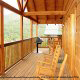 Back Porch View of Cabin 858 (Eagles On A High) at Eagles Ridge Resort at Pigeon Forge, Tennessee.