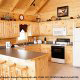 Kitchen View of Cabin 858 (Eagles On A High) at Eagles Ridge Resort at Pigeon Forge, Tennessee.