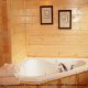 Private jacuzzi in cabin 859 (Absolute Paradise) , in Pigeon Forge, Tennessee.