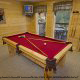 Game Room View of Cabin 860 (Cozy Bear Overlook) at Eagles Ridge Resort at Pigeon Forge, Tennessee.