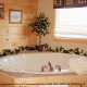 Private jacuzzi tub in cabin 861 (Mountain View Lodge) at Eagles Ridge Resort at Pigeon Forge, Tennessee.