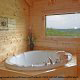 Private jacuzzi in cabin 864 (The Cedars) at Eagles Ridge Resort at Pigeon Forge, Tennessee.
