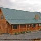 Outside front view of  cabin 864 (The Cedars) at Eagles Ridge Resort at Pigeon Forge, Tennessee.in