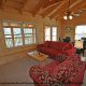 Sitting room to relax in cabin 864 (The Cedars) at Eagles Ridge Resort at Pigeon Forge, Tennessee.