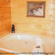 Jacuzzi View of Cabin 865 (Bearway To Heaven 2) at Eagles Ridge Resort at Pigeon Forge, Tennessee.