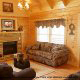 Living Room View of Cabin 865 (Bearway To Heaven 2) at Eagles Ridge Resort at Pigeon Forge, Tennessee.