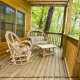 Relax and put your feet up on this deck with its comfy patio furniture in cabin 88 (Mountain Magic), in Pigeon Forge, Tennessee.