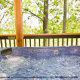 Relax and let yourself float away in this soothing hot tub  in cabin 88 (Mountain Magic), in Pigeon Forge, Tennessee.