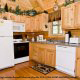 Fully furnished large kitchen to cook any meal in cabin 88 (Mountain Magic), in Pigeon Forge, Tennessee.