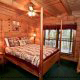Country Bedroom View of Cabin 9 (Eagles Nest) at Eagles Ridge Resort at Pigeon Forge, Tennessee.