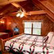 Bedroom View of Cabin 9 (Eagles Nest) at Eagles Ridge Resort at Pigeon Forge, Tennessee.
