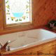 Jacuzzi in Cabin 9 (Eagles Nest) at Eagles Ridge Resort at Pigeon Forge, Tennessee.