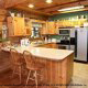 Kitchen View of Cabin 9 (Eagles Nest) at Eagles Ridge Resort at Pigeon Forge, Tennessee.