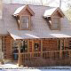 Outside front view in cabin 91 (Eagles Beauty) , in Pigeon Forge, Tennessee.