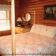 Bedroom View of Cabin 92 (Virginias Villa) at Eagles Ridge Resort at Pigeon Forge, Tennessee.