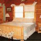 Beautifully Furnished Bedroom View of Cabin 92 (Virginias Villa) at Eagles Ridge Resort at Pigeon Forge, Tennessee.