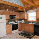 Kitchen View  with appliances in Cabin 92 (Virginias Villa) at Eagles Ridge Resort at Pigeon Forge, Tennessee.